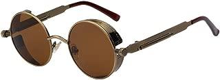 Round Metal Sunglasses Steampunk Men Women Fashion Glasses Retro Vintage Sunglasses UV400
