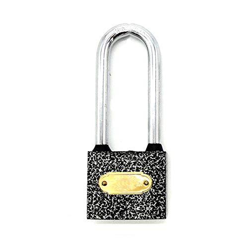 WXYZ candado Llave Long Ring Lock Candado, Moldeada De Hierro Sólido Bloqueo De Seguridad, Usado Locker Maleta De Contenedores Bloqueo De La Puerta, 32x90mm, 50x126mm (Size : 32x90mm)