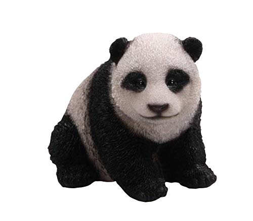 Stone-Lite - Statuette de panda - polyrésine - 12 x 11 x 12 cm