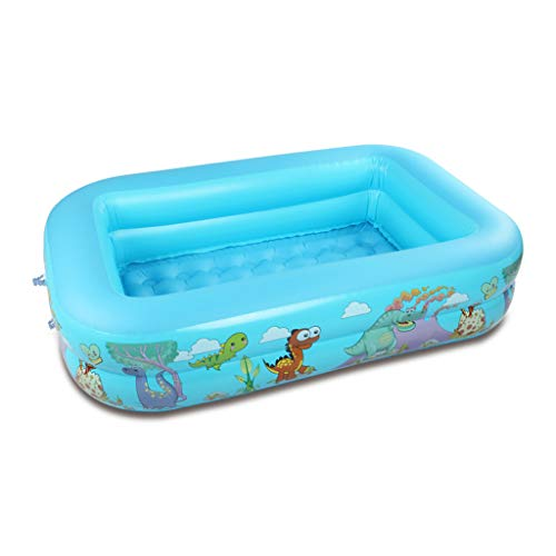 zhiwenCZW Bañera inflable del juego del agua inflada segura gruesa del verano de la piscina cuadrada