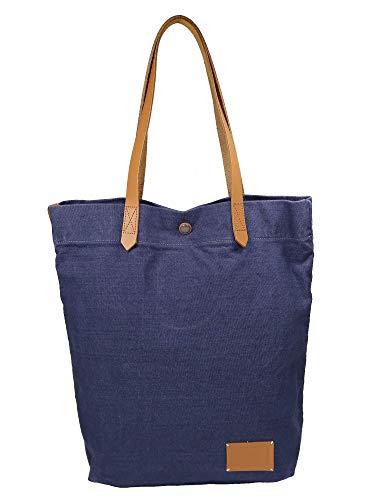ESPRIT Damen Handtasche Tasche Henkeltasche Daryl Shopper Blau 040EA1O319-445