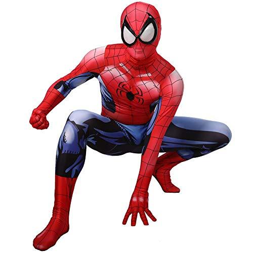Spider-Man Costume Ultimate Spider-Man Cosplay Costume Superhero Bataille Costume Hommes Femmes Halloween Noël Masquerade Vêtements Extensible Bodysuit,Male-M