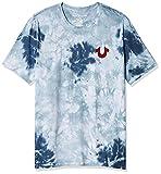 True Religion Men's Buddha Logo Short Sleeve Tee, Ocean Waves, XL