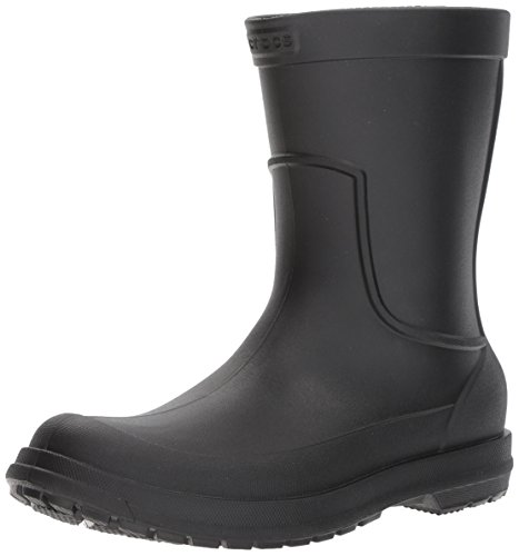 Crocs Men's AllCast Rain Boot, Black/Black, 13 M US