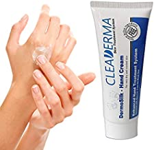CLEADERMA DermoSilk Hand Cream Skin Treatment: Natural Active Dead Sea Minerals, Plant Extracts and Oils for Dry, Cracked Skin by PharmaNaturalis 2 Oz
