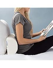وسادة الركبة من بلو ستون - وسادة دعم للرقبة والساق نصف دائرة من إسفنج الذاكرة المريح لراحة الظهر والجانبي للنوم والراحة