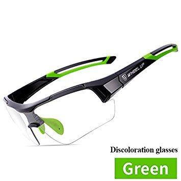 Lanlan ciclismo occhiali Outdoor sport occhiali da sole con lenti fotocromatiche scolorimento MTB bici Eyewear anti-UV bicicletta occhiali, Green