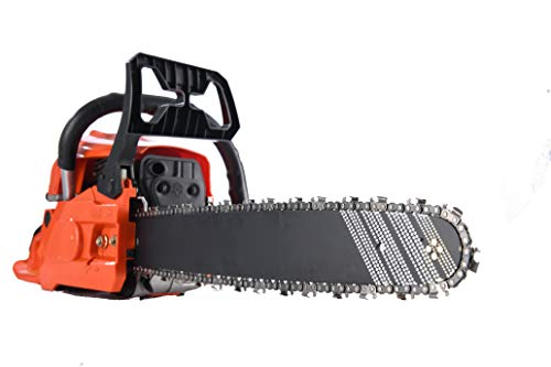 An image of the Abizoe CTCS52 2-Stroke Petrol Chainsaw Powered by 52 cc 260ml 2200kw Engine 18 inch 52cm Guide with Extra 2 x Chains and 1 x Blades Upgraded Version (Up to 80 hours of continuous work)