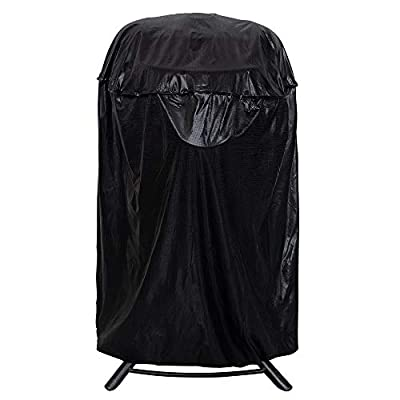 iCOVER Vertical Round Smoker Cover, Outdoor BBQ Barbecue Cover, Dome Smoker Cover, Water Smoker Cover, Bullet Smokers Cover, Vertical fire Pit Cover for Char-Broil Weber George Foreman Brinkmann