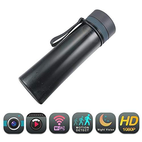 ZFYM Tragbarer Wasserkocher, Kamera, WiFi, 1080p, HD, Trinkflasche, Kamera, Bewegungserkennung, Schnallenaufzeichnung, einfach zu verwenden, für Sicherheit zu Hause