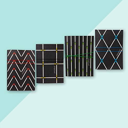 Perpetua - Juego de 4 cuadernos fabricados en Italia - Papel estampado con tintas naturales - Idea regalo ecológica No Waste