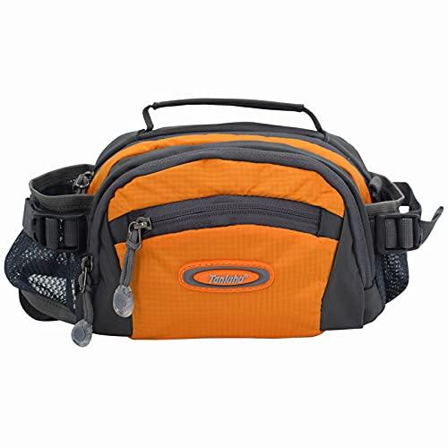 Tanluhu Outdoor Waist Pack with Water Bottle Holder Multifunctional Travel Waist Bag Bum...