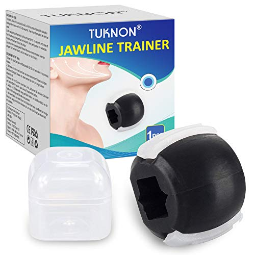 Jawline Trainer, Jaw Exerciser, Jaw Trainer, Kiefer Training, Gesichtsstraffer, Kieferformer, Reduzieren Sie das Doppelkinn und straffen Sie das Gesicht (Schwarz)