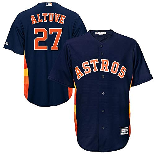 Outerstuff Jose Altuve Houston Astros MLB Majestic Youth Navy Alternate Cool Base Replica Jersey (Youth Large 14-16)