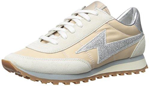Marc Jacobs Astor Lightening Bolt Zapatillas Moda Mujeres Beige/Plateado - 37 - Zapatillas Bajas Shoes