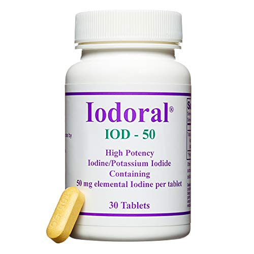 Optimox Corporation Iodoral IOD-50, 50mg (30 Tablets, 1 pack)