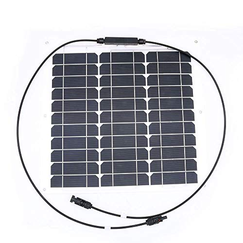 Caricatore per pannello solare NUZAMAS 30W 12V flessibile ultra sottile per auto da cabina per camper (compatibilità con dispositivi 18V e inferiori)