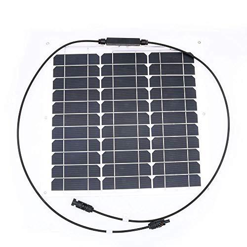 nuzamas 40 W 12 V Solar Panel Ladegerät Sunpower Zelle Ultra Dünne Flexible mit Stecker Ladekabel für RV Boot Kabine Zelt Auto (Kompatibilität mit 18 V und unten Geräte)