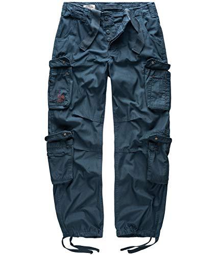 Surplus Raw Vintage Airborne Herren Cargo Hose, Navy, L
