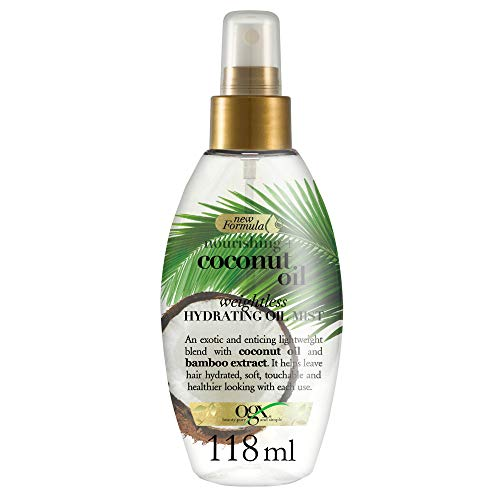 OGX Olio Idratante Leggero, Spray Nebulizzatore Nourishing + Coconut, 118 ml