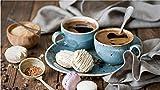 Nobranded 1000 Stück Puzzle Für Erwachsene Kinder Blaue Kaffeetasse Rätsel Für Erwachsene Lernspielzeug