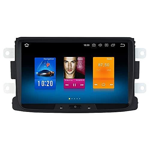 Reproductor multimedia para coche 8'Android 9.0 Radio para coche 1 Din con pantalla RAM 4G + ROM de 32G para Renault Duster Dacia Sandero Captur Estéreo para coche Soporte Bluetooth GPS WiFi DAB + Ca