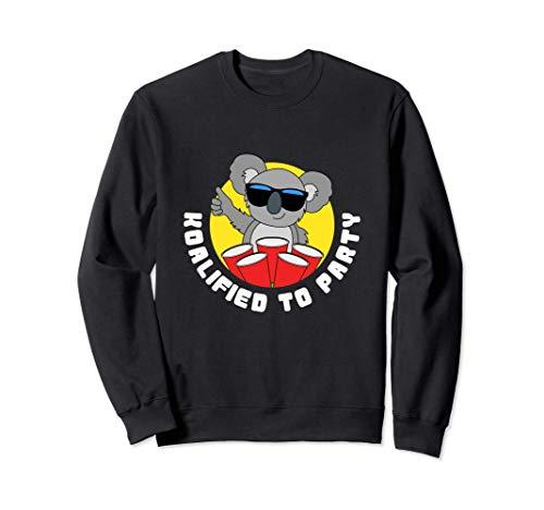 Funny Koalified To Party Gifts Koala Bear Sweatshirt