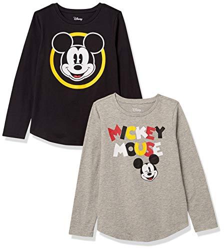 Amazon Essentials Disney Star Wars Marvel Princess Long-Sleeve T-Shirts, Mickey Dessin Classique, 11-12 Ans