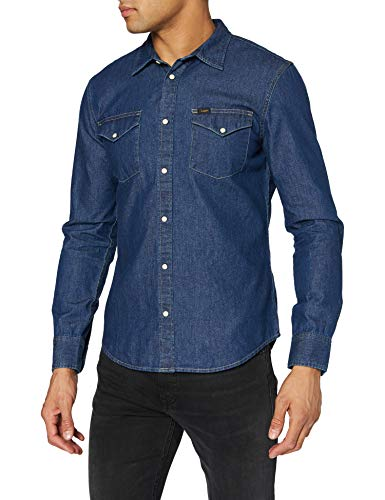 Lee Western Shirt Chemise en Jean, Bleu (Sodalite Blue Di), XX-Large Homme