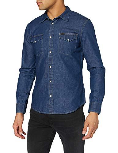 Lee Herren Western Shirt Freizeithemd, Blau (Sodalite Blue Di), XL