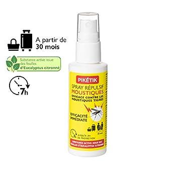 FLORABIOL Spray Anti-Moustiques - Format Pocket (50 ML) - Actifs d'Origines Végétales (Eucalyptus citronné) - Visage et Corps - Dès 30 Mois - Actif 7h - sans DEET