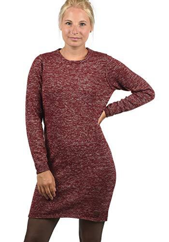 BlendShe Danielle Damen Strickkleid Feinstrick Kleid Mit Rundhals Aus 100% Baumwolle, Größe:XL, Farbe:Andorra Red (73811)