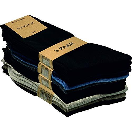 GAWILO 12 Paar Natur-Baumwollsocken – Damen und Herren – 100% reine Baumwolle – ohne Naht...