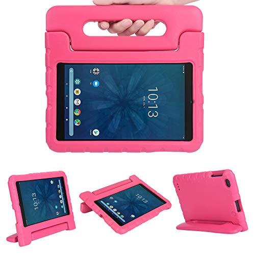 Kavon Funda para Walmart Onn 8 Pulgadas Tablet 2019 ONA19TB002, EVA Ligera a Prueba de Golpes Soporte de Manija Convertible,Funda Protectora Tableta para Niños de 8 Pulgadas (Rose)