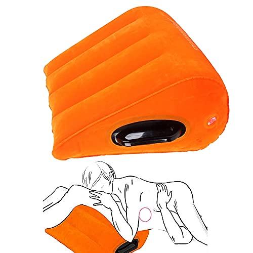 Almohada de Forma de triángulo Naranja con posicionamiento de Mango Cojín Inflable Almohada Cojín mágico Soporte Corporal
