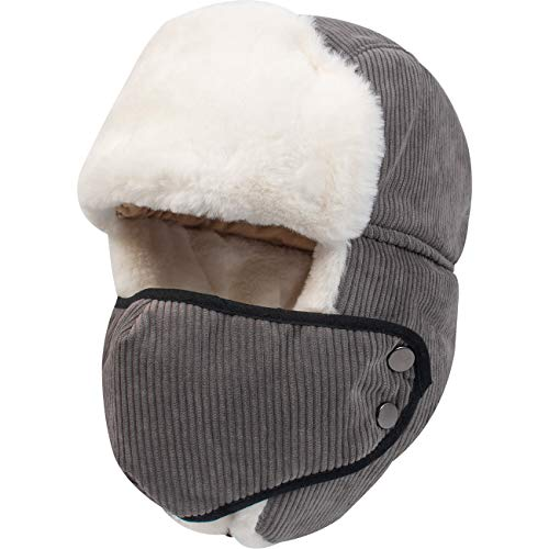 FITEXTREME Winter Thermal Ear Flap Hunting Trapper Windproof Mask Hat Unisex B