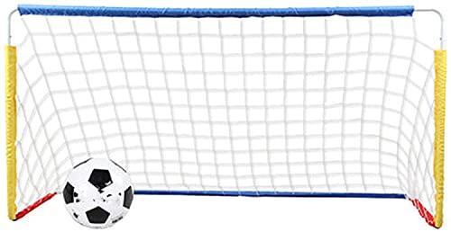 HSWYJJPFB Portería de Fútbol Red de Fútbol para Niños Inicio Interior al Aire Libre Pequeño Marco de fútbol Mini Soporte de fútbol Plegable portátil 0917(Color:White;Size:125x75x55cm)