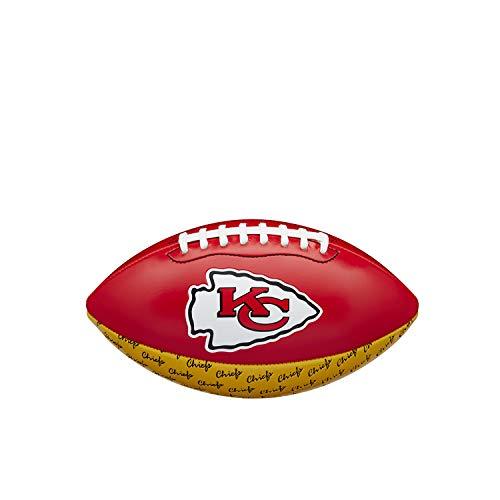 NFL City Pride Balón de fútbol Americano Kansas City Chiefs, Cuero Compuesto, para Jugadores Aficionados, Rojo/Amarillo, WTF1523XBKC