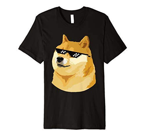 Doge T-shirt with deal with it glasses