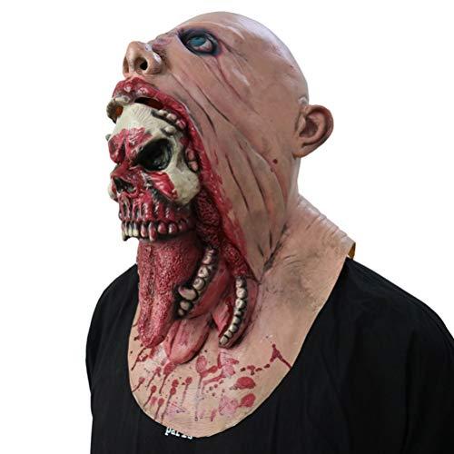 JustPe Mscara de Halloween Espeluznante, Casco Realista de Cabeza Entera, Zombie Mscaras, Fiesta de Disfraces de Halloween Mscara de Cabeza de Ltex, Terror Mask Carnaval Horror Cosplay Disfraz