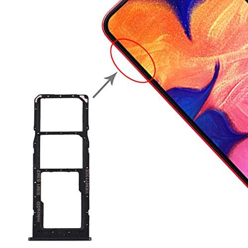 Carrello Vassoio alloggio tray porta scheda nano Sim1+ SIM 2 + SLOT SLITTA Alloggio Memoria Micro Sd CARD compatibile per SAMSUNG GALAXY A10 / A105 A105F SM-A105F/DS (Nero)