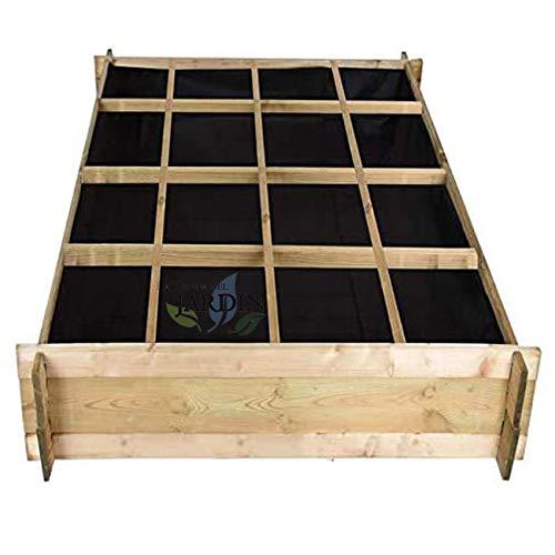 Suinga. ORTO URBANO IN LEGNO 134 X 134 X 24 CM 16 DIPARAMENTI Perfetto per coltivare un orto...