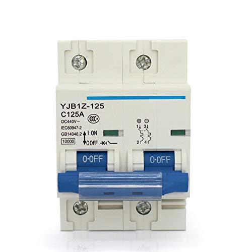 LUOXUEFEI Disyuntor Diferencial Interruptor Disyuntor 2P 125A Dc440V Dc