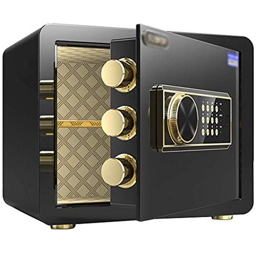 Cajas fuertes de gabinete, caja fuerte con alarma doméstica pequeña, contraseña antirrobo de oficina para desbloquear la caja fuerte, caja fuerte de acero para documentos en la pared, con llave