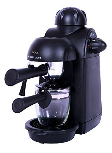 Sogo Semi Espresso Cafetera, 870 W, 0.24 litros, Plástico, Negro