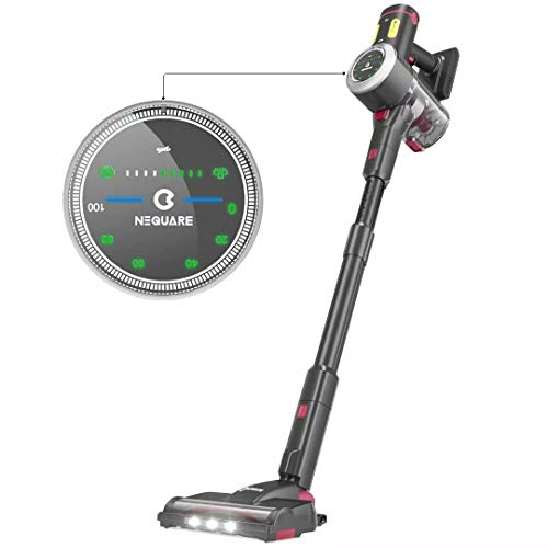 NEQUARE Cordless Vacuum, 26Kpa Stick Vacuum Cleaner with LED Display, 9 Gears Adjustable Suction, 40min Long Runtime, Brushless Motor, Lightweight Multi-Surface & Pet Hair Cleaning, S26