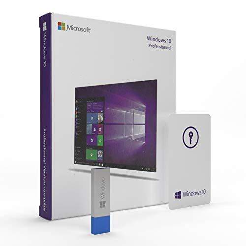 Windows 10 Pro 64 bits / 32 bits | USB | License Français | Windows 10 Professionnel 32 bits / 64 bits | Système d'exploitation 64 bits