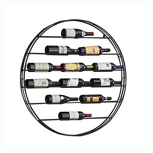 Casier À Vin Tenture Murale En Fer Forgé Vin Café Café Européen Restaurant Créatif Présentoir Cabinet 98x98cm (Couleur : A)