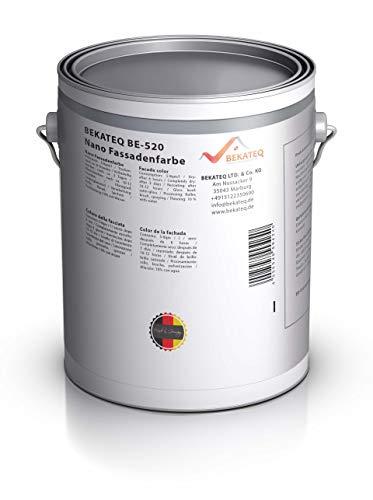 BEKATEQ Nano Fassadenfabe und Wandfarbe BE-520 Außenfarbe weiß Abperleffekt - Weiß - 1L