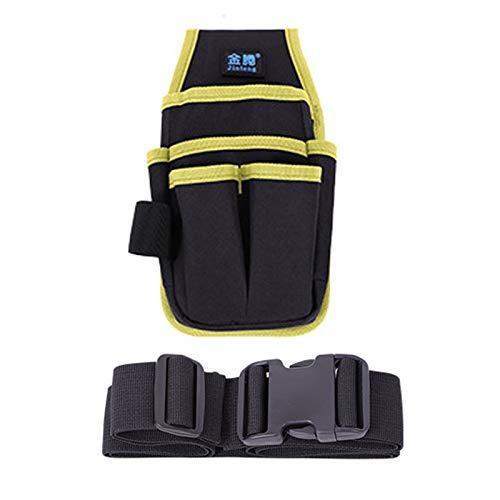 工具差し入れ 腰袋 多機能作業袋 工具バッグ ベルト付き ポケット多数 オックスフォード製 防水 耐久性 6種類のデザインは3色から選べます。 (T1, 黄)